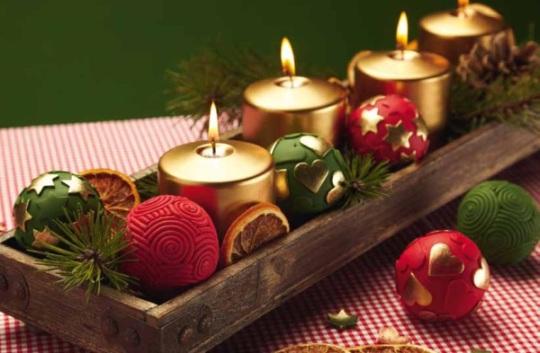 bolas de navidad fimo