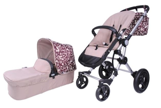 Baby Ace 042 capota y cochecito V&L crema