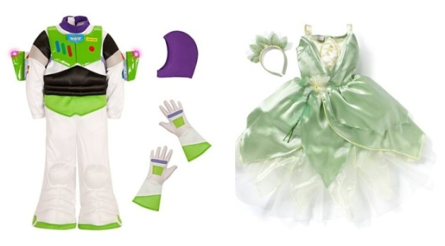 Disfraces Buzz Lightyear y Tiana