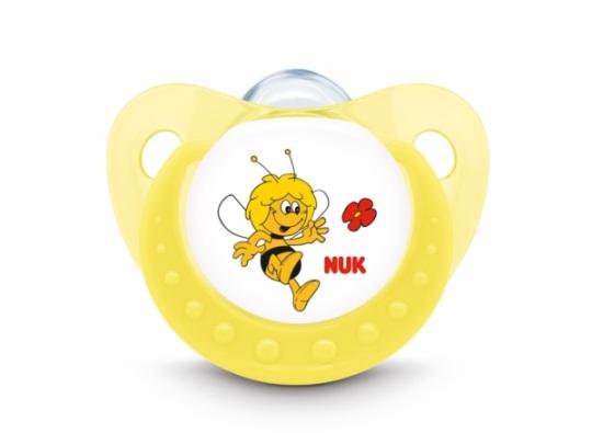 Chupete abeja maya en amarillo