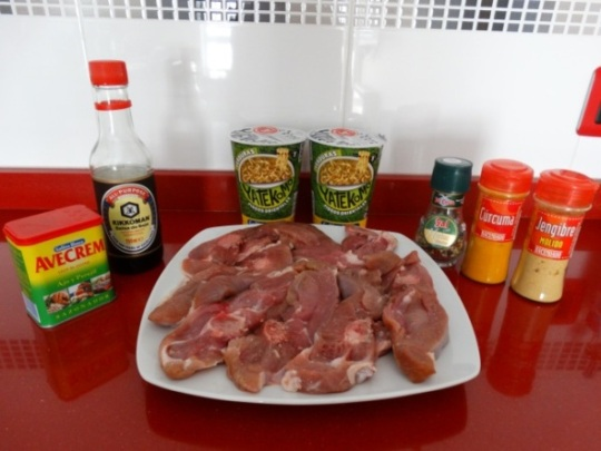 Ingredientes ossobuco de pavo