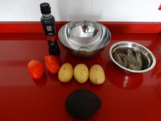 timbal de patata - ingredientes
