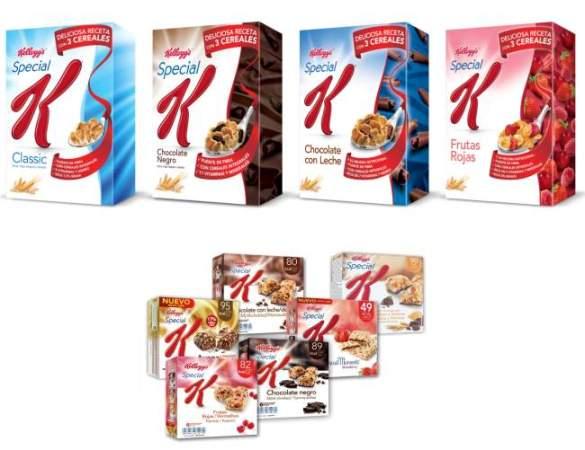 cereales y barritas special k