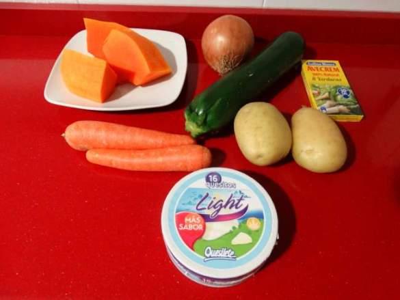 Ingredientes crema de verduras