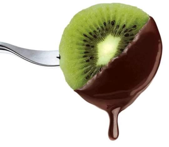 kiwi con choclate