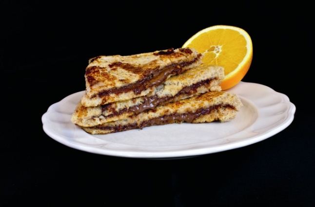Sandwich Nocilla y naranja