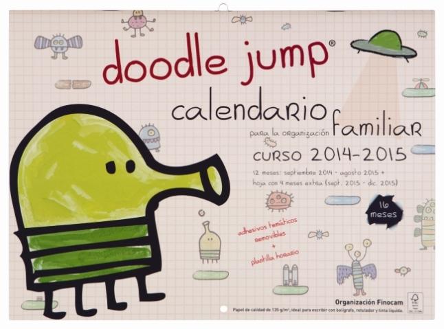 Portada calendario doodle jump