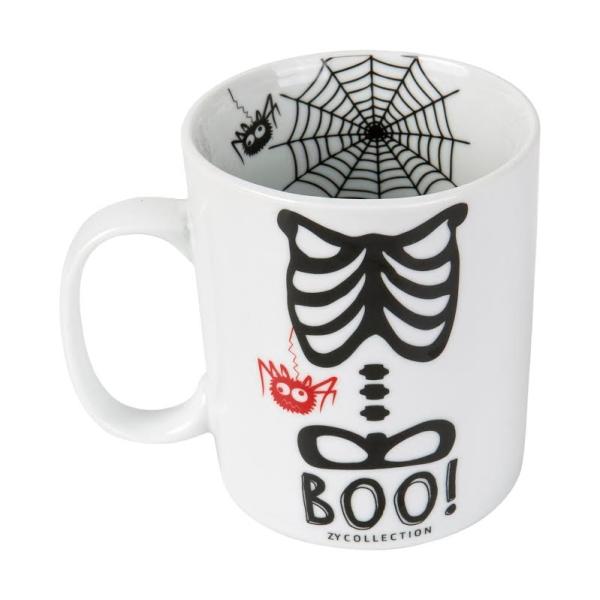 taza halloween esqueleto