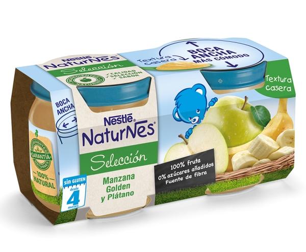 Nestle naturnes manzana y platano
