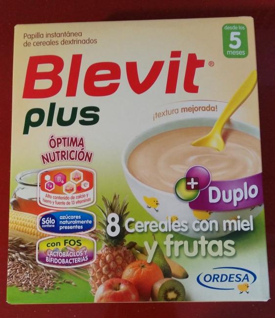 Blevit Plus 8 cereales con miel y frutas