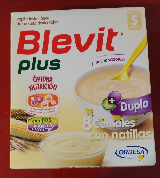 Blevit Plus 8 cereales con natillas