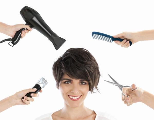 Happy hairdresser