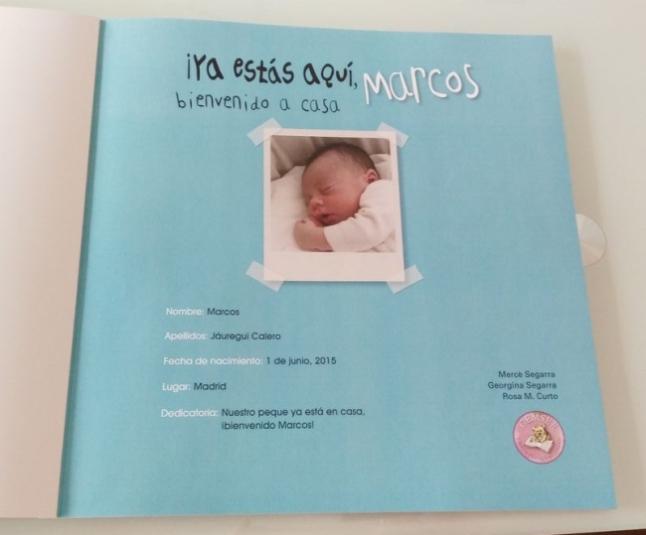 Así ha quedado el libro personalizado de Gemser con nuestro bebé de ...